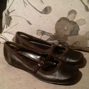 Kenneth Cole Reaction Brown Leather Shoes 8